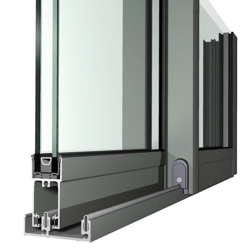Теплый профиль для раздвижных дверей из алюминия