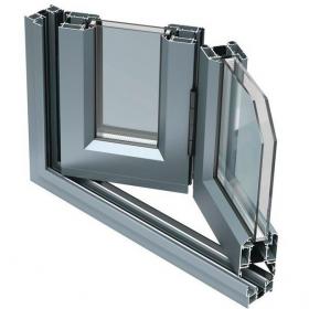 Теплый алюминиевый профиль для двери гармошка
